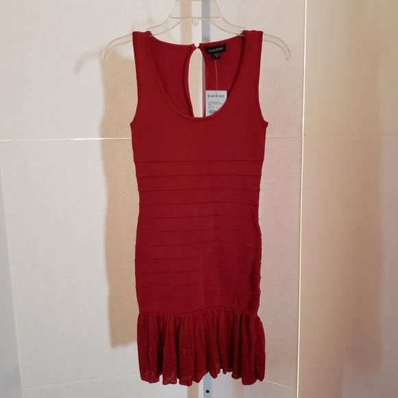 bebe Dresses & Skirts - Bebe Red Knit Dress size S